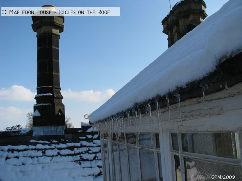 :: Mabledon: Icicles on the Roof - KM/2009